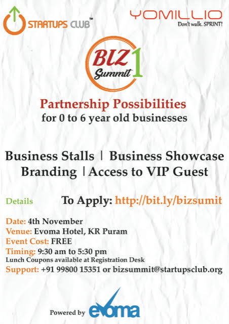 Yomillio Startups Club Biz Summit partnerships
