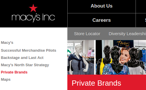 Macy's Private Brands